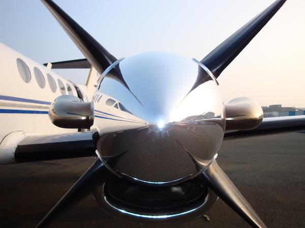 Beechcraft King Air 200 vue extérieure : Salon du bourget, 52° édition, Juin 2017