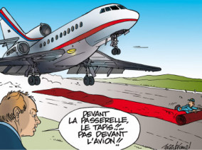 Tapis rouge, Avion d'affaire