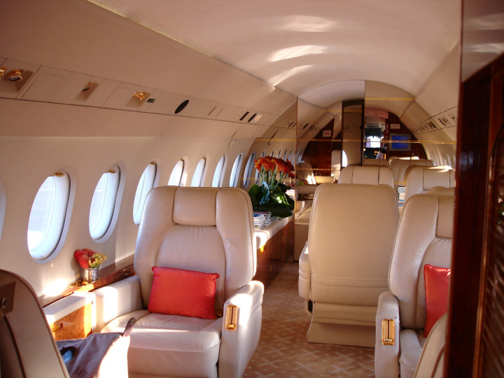 Photo intérieur d'un avion taxi